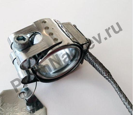 Кольцевой миканитовый  нагреватель 32 x 30 мм, 125 Вт/ 230 В, термостойкий провод в метоплетке