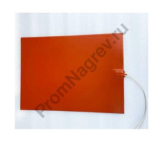 Плоский силиконовый нагреватель 290x400 мм, 1000 Вт/230 В, провод 250 мм