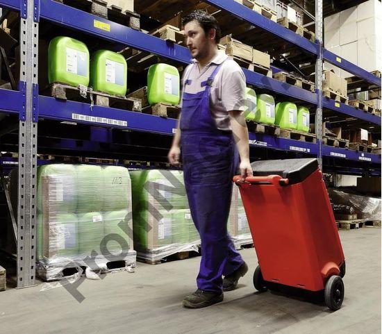 Перевозка по производству контейнера красного с сорбентами для ликвадации утечки масла или нефтяных продуктов.
