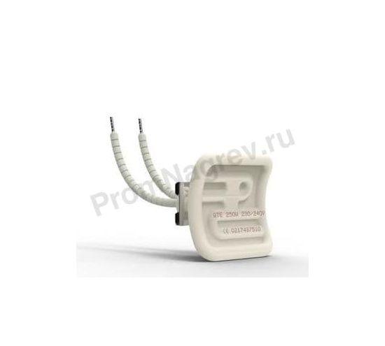 Электрический инфракрасный излучатель керамический QTE 150 Вт и 250 Вт, 60x60x34 мм