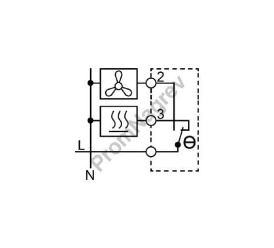 Механический гигростат SL-MTM-404  с переключающим контактом на нагрев/охлаждение - коммутация