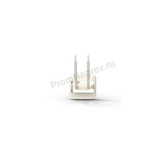 Промышленный инфракрасный нагреватель керамический полый QFEH 125  Вт и 200 Вт, 60x60x37.5 мм с термопарой