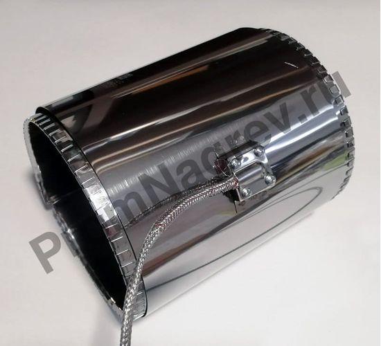 Нагревательный элемент кольцевой миканитовый 100 x 190 мм, 750 Вт/ 230 В, термостойкий провод в метоплетке на малом коробе