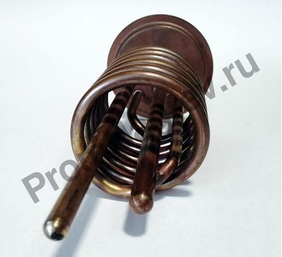 Нагревательный элемент на фланце 120-6,5, диаметр 6,5 мм, длина 120 мм, 2000 Вт/230 В, клеммы