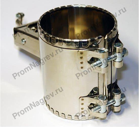 Хомутовый миканитовый нагревательный элемент, диаметр 86 мм, ширина 110 мм, крепление - 2 болта