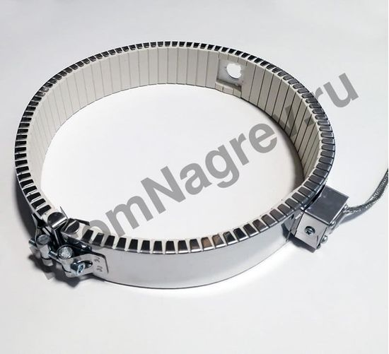 Керамический кольцевой нагреватель посадочный диаметр 245 мм, ширина 50 мм,  высокотемпературный провод 1500 мм