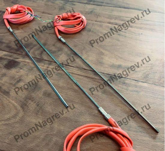 Спиральный нагреватель прямой, 620Вт/ 230В, сечение 2.2х4.2 мм с термопарой