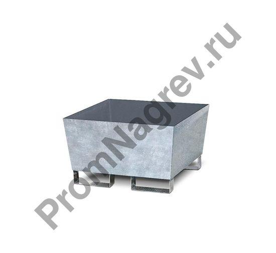 Сточный резервуар BASIS A для одной бочки, без решётки, оцинкованная сталь, ножки с вилочковым разъемом