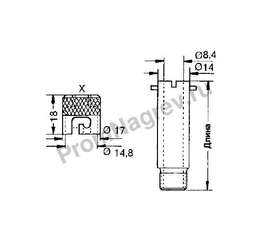 Байонетный колпачок N тип 2 для термопар и датчиков сопротивления