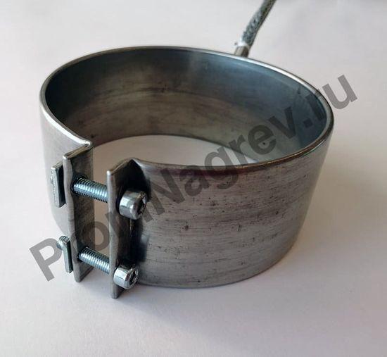 Сопловый нагревательный элемент с корпусом из нержавеющей стали 100 x 48 мм, 550 Вт/ 230 В, и проводом под углом 45 градусов