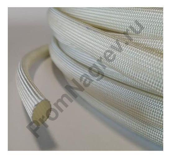 Кембрик для проводов термостойкий стекловолоконный SV13 белый; внутренний диаметр 12 мм