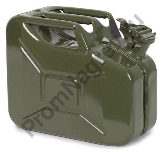 Канистра из листовой стали топливная, зеленая, 10 литров