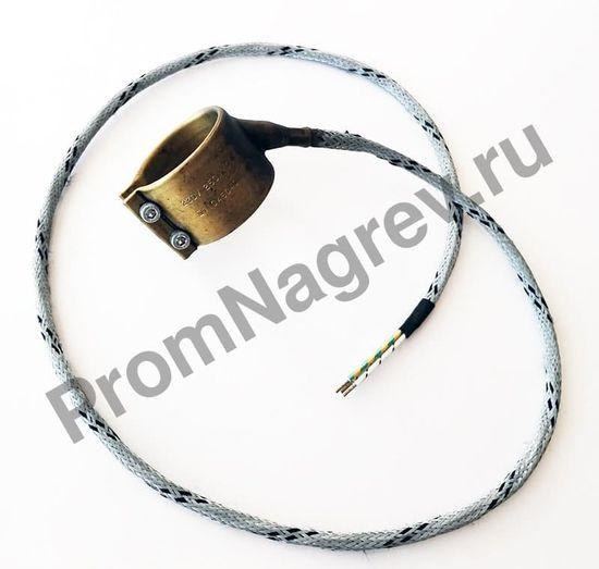 Нагревательный элемент сопловый с корпусом из нержавеющей стали 45 x 40 мм, 250 Вт/ 230 В и проводом 1000 мм под углом 45 градусов