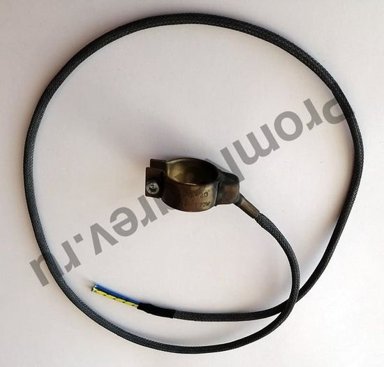 Нагревательный элемент сопловый с корпусом из нержавеющей стали 30 x 20 мм, 100 Вт/ 230 В и проводом 1000 мм под углом 45 градусов