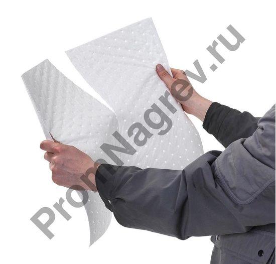 Благодаря перфорации можно делить и расходовать сорбирующие салфетки наиболее экономично, всегда используя только нужное количество материала.