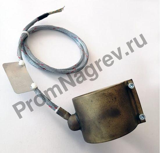 Сопловый нагревательный элемент с корпусом из нержавеющей стали 65 x 70 мм, 600 Вт/ 230 В и проводом под углом 45 градусов