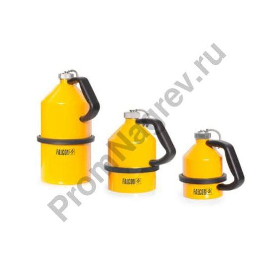 Стальные ёмкости для воспламеняющихся жидкостей, с завинчивающимися крышками, оцинкованные, окрашенные в жёлтый цвет