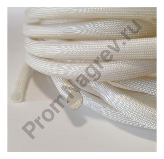 Кембрик для проводов термостойкий стекловолоконный SV13 белый; внутренний диаметр 8 мм