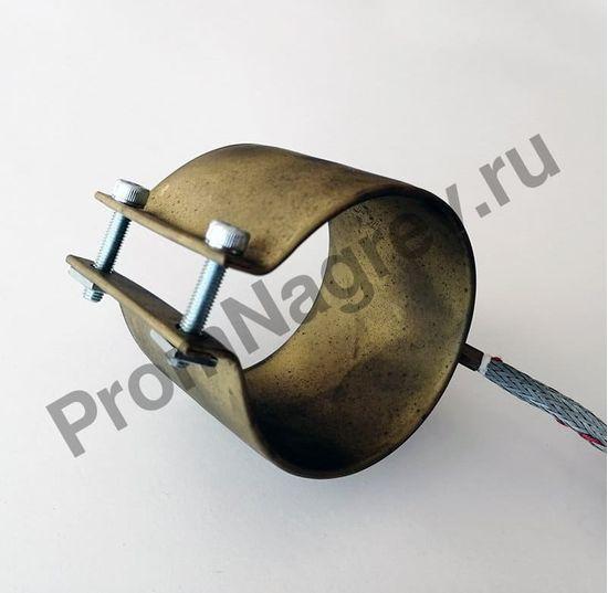 Нагреватель сопловый с корпусом из нержавеющей стали 65 x 70 мм, 600 Вт/ 230 В и проводом под углом 45 градусов