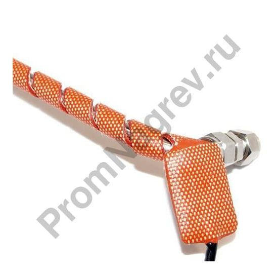 Силиконовый спиральный нагреватель для трубы; 33Вт/240В