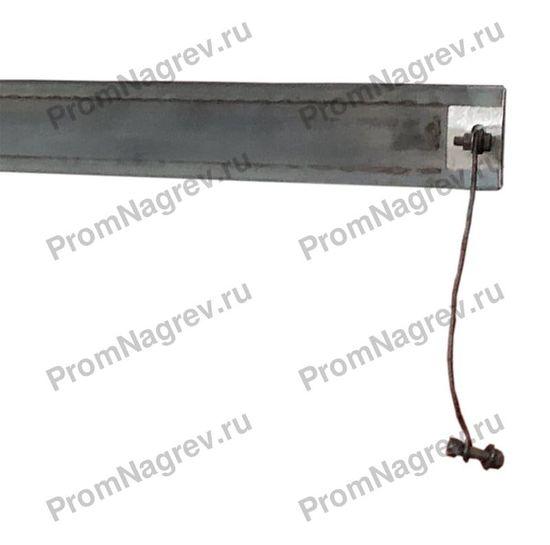 Плоский миканитовый нагреватель в корпусе из нержавеющей стали 1500x50 мм, мощность 3400 Вт, напряжение 400 В, шпильки
