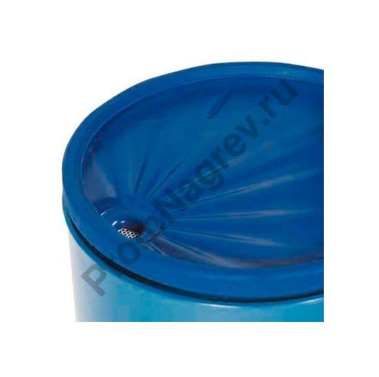 Бочковая воронка из полиэтилена, круглая, объем 5 литров, с ситом и крышкой
