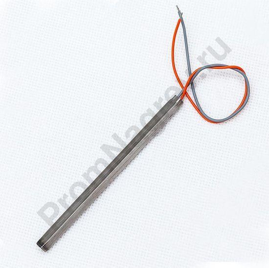 Нагреватель ТЭНП квадратичный сечение  6*6 мм, длина 120 мм, 100 Вт/48 В, внутреннее подключение