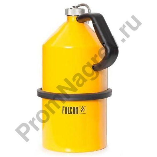 Ёмкость из оцинкованной стали для ЛВЖ, завинчивающаяся крышка, окрашенная в жёлтый цвет, 5 литров