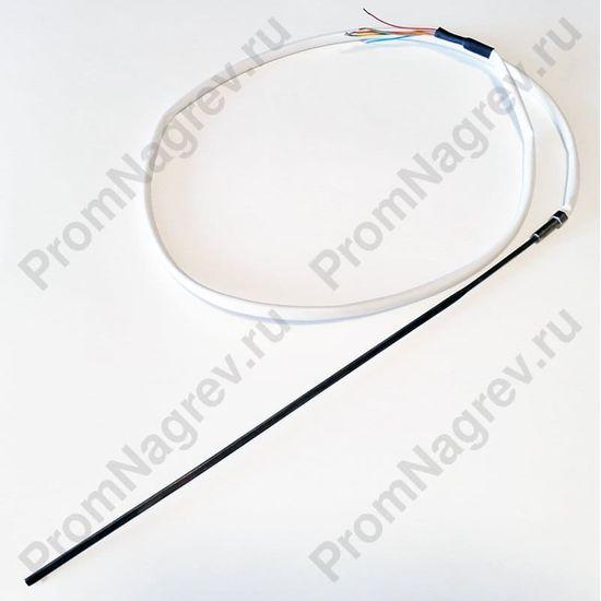 Спиральный нагревательный элемент прямой 225 Вт/230 В, сечение 2.2 х 4.2 мм, провод 940 мм, встроенная термопара