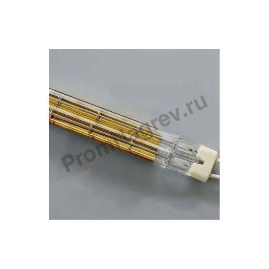 ИК лампа для термокамеры товарного намотчика, сечение 23x11 мм, 4000 Вт, длина 2000 мм, с золотым напылением, провод с двух сторон