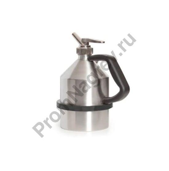 Ёмкость из нержавеющей стали для розлива ЛВЖ и агрессивных жидкостей, с краном для точной дозировки, объём 2 литра