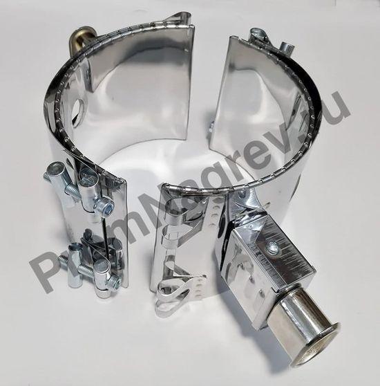 Полукольцевой хомутовый нагреватель миканитовый 600 Вт/230 В, диаметр 135 мм, ширина 110 мм