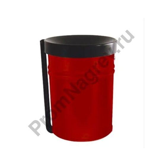 Контейнер для мусора самозатухающий, 16 литров, сталь, красный