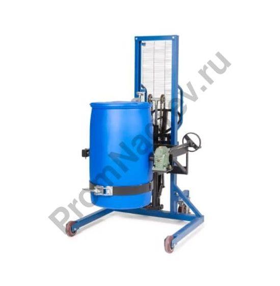 Устройство Servo для подъёма, перемещения и поворачивания бочек 200-220 литров, широкий механизм для передвижения, высота подъёма 0-1270 мм, переворот на 180 градусов