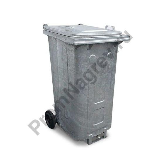 Мобильный контейнер для безопасного сбора нефтесодержащих отходов, встроенный слив, объём 240 литров