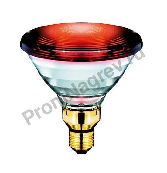 Греющая лампа Philips PAR38 IR 150W E27 230V Red 1CT/12