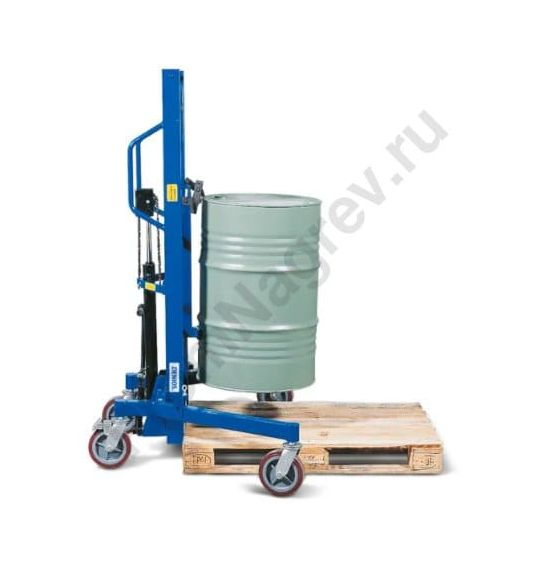 Простой подъем и транспортировка стальных бочек 200 л