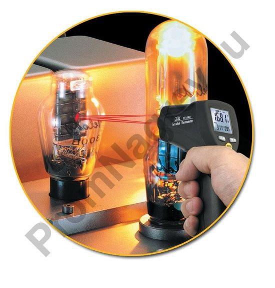 Инфракрасный пирометр DT-8865 в работе