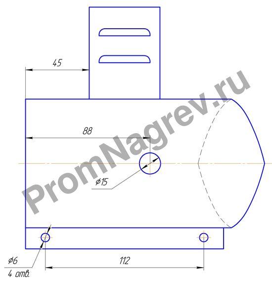 Нагреватель кольцевой миканитовый 1000 Вт/230 В, диаметр 85 мм, ширина 169 мм
