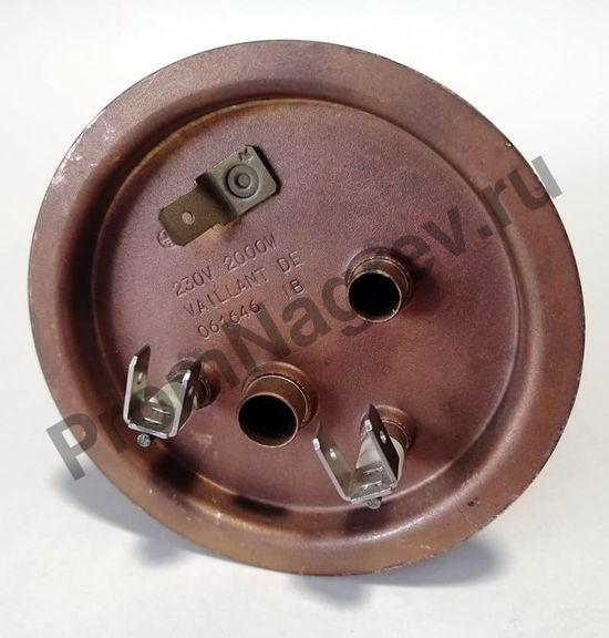 Нагреватель на фланце 120-6,5, диаметр 6,5 мм, длина 120 мм, 2000 Вт/230 В, клеммы