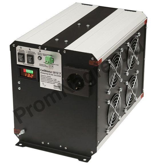 СибВольт 3012У инвертор, преобразователь напряжения DC/AC, 12В/220В, 3000Вт