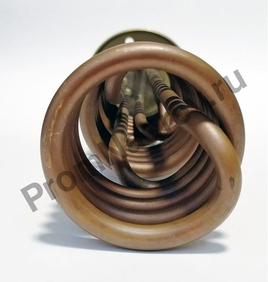 Трубчатый ТЭН на фланце 267-71, диаметр 71, длина 267 мм, шпильки