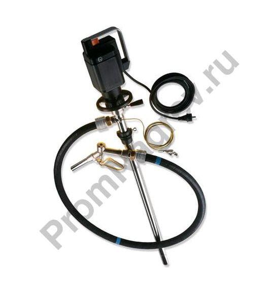 Электрический насос для перекачивания растворителей из бочек, глубина погружения 1000 мм,  функция слива остаточной жидкости, взрывозащищенное исполнение