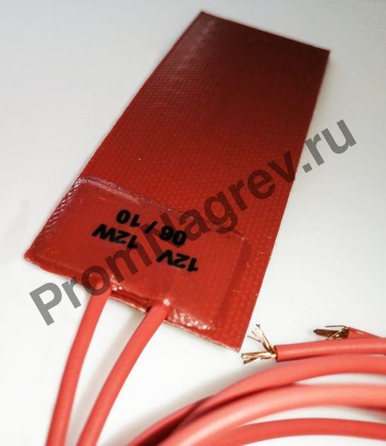 Плоский силиконовый нагревательный элемент 30x80 мм