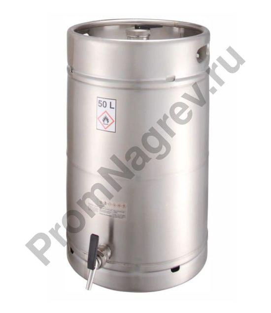 """Ёмкость из нержавеющей стали для безопасного хранения ЛВЖ и агрессивных веществ, с разливочным краном 3/4"""", объём 50 литров"""