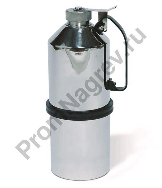 Ёмкость из нержавеющей стали для транспортировки ЛВЖ, с завинчивающейся крышкой, объём 5 литров