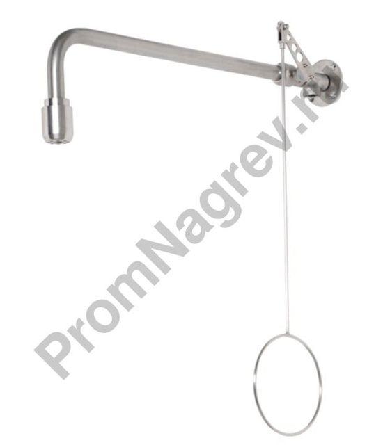 Аварийный душ для тела из нержавеющей стали для настенного монтажа BR 082 095 / 75