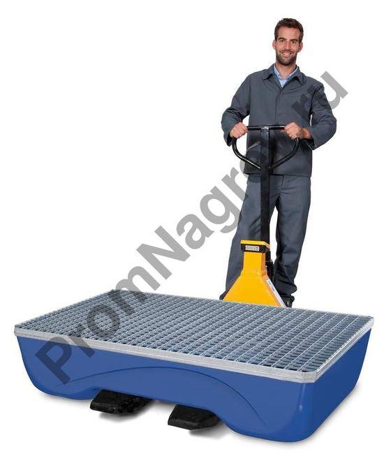 Работник с поддоном pro стальным на две бочки