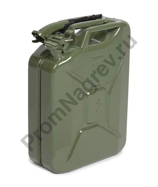 Канистра из листовой стали, зеленая, 20 литров
