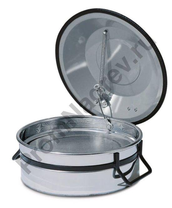 Ёмкость из нержавеющей стали для промывки мелких деталей, с решеткой для погружения, 2,5 литра, 270 x 270 x 150 мм